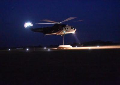 Coulson Aviation Firefighting Helicopter at night
