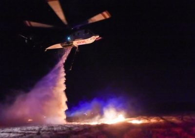 Coulson Aviation PTY Firefighting Helicopter at night