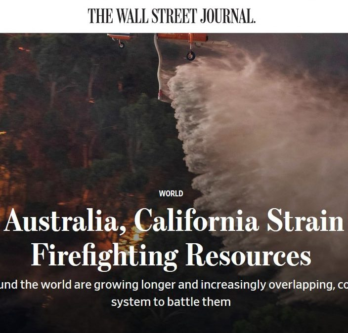 Wall Street Journal story featuring Coulson Aviation Australia