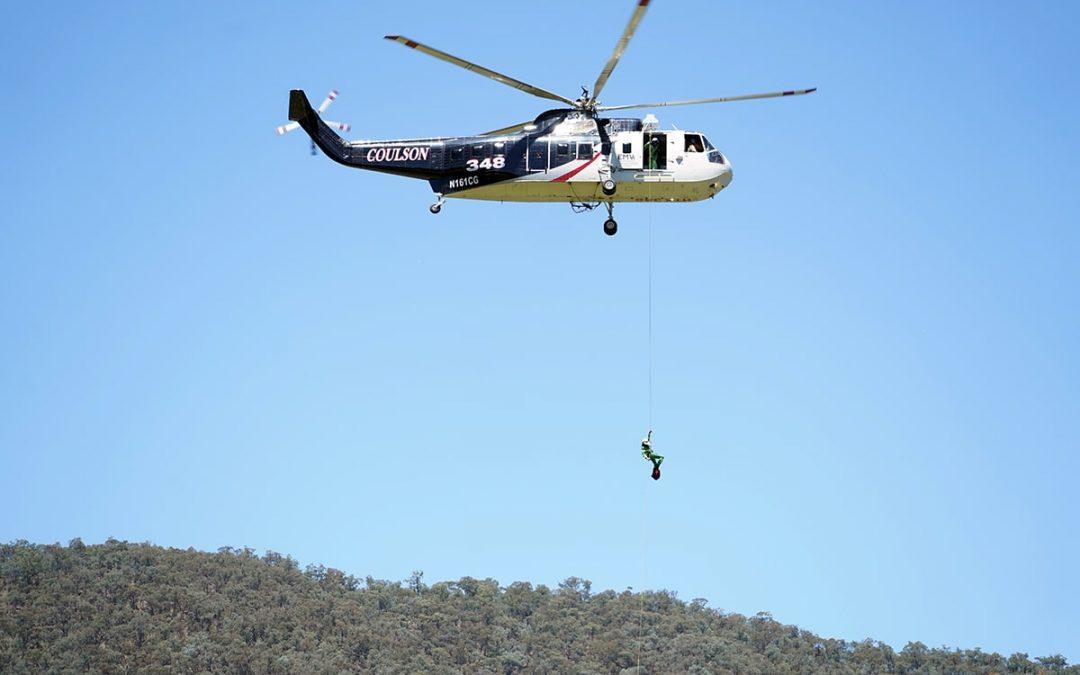 High Skill on Display in Rappel Training
