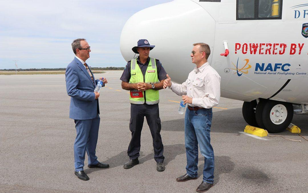 USA Consul Visits Coulson Aviation Australia